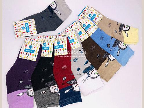 ДИАНА  детские носки внутри махра мягкие хорошего качества  арт G322