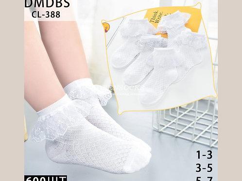 Детские хлопковые красивые носки для девочек с рюшечкой CL-388