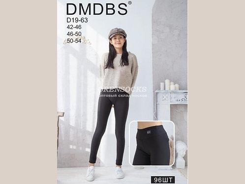 DMDBS  Женские брючки черного цвета с начесом на широком поясе артикул D19-63