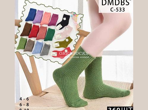 DMDBS Носки детские кашемировые в упаковке 10 штук разных ярких расцветок C-533