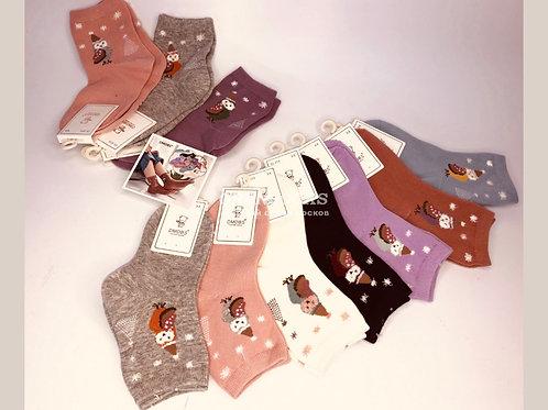 DMDBS детские носки для девочек разных расцветок с рисунками к НОВОМУ ГОДУ артик