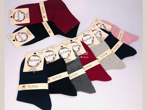 Женские хлопковые носки дезодоранты отличного качества разных расцветок артикул