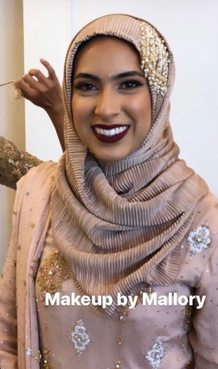 Hijabi bridesmaid