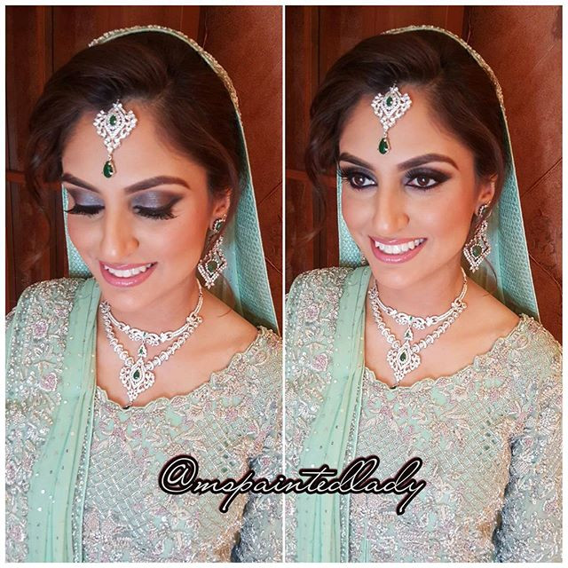 makeup hair jewelry and dupatta by Ms Painted Lady