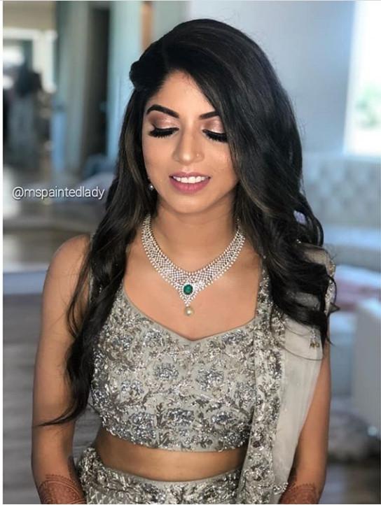 Desi bridal makeup and hair