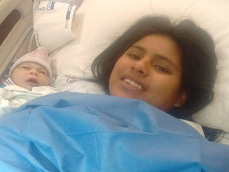 Mission Border Hope Vista and Volunteer reach out to a new baby