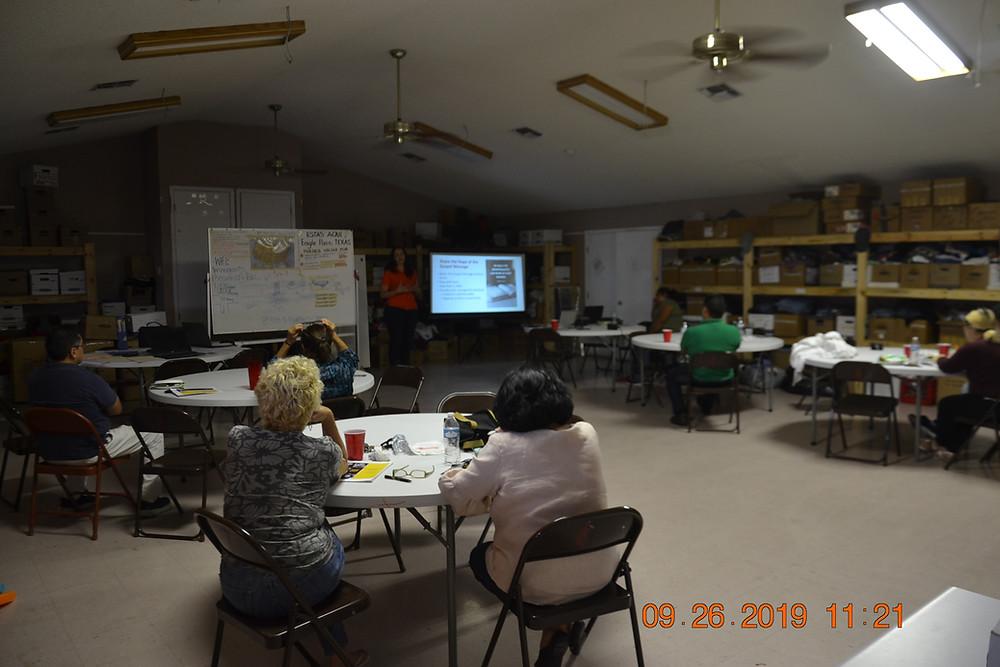 Staff, Shelter representatives and visitors at Mission Border Hope La Trinidad Center