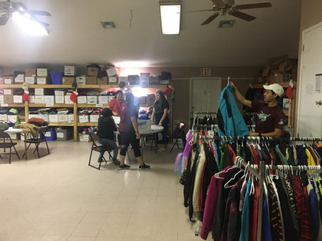 Eagle Pass High School Interact Club visited Mission Border Hope Resource Center.