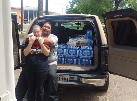 Donation by Christina M. Basey and Sean TNT Suke Gonzalez Kickapoo Tribe member.