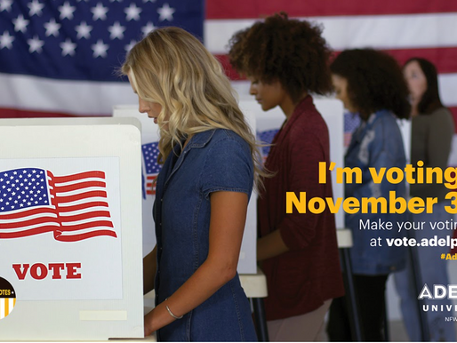 Make Your Voice Heard: #AdelphiVotes