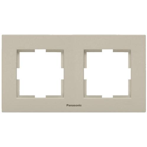Panasonic Sorolókeret (2-es) vízszintes, bézs, Panasonic feliratos