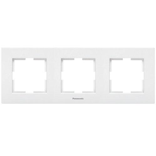 Panasonic Sorolókeret (3-as) vízszintes, fehér, Panasonic feliratos