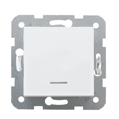 Panasonic Kapcsoló, egy pólusú, jelzőfénnyel, keret nélkül, fehér