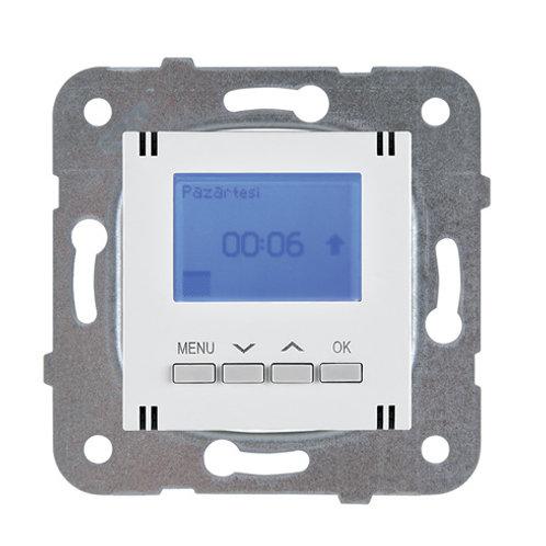 Panasonic heti programozható termosztát (hűtés-fűtés/4 zónás) keret nélkül, fehé
