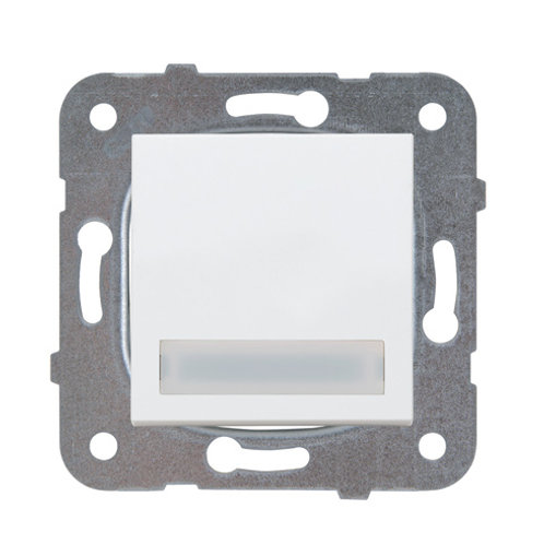Panasonic Nyomókapcsoló feliratozható, jelzőfénnyel, keret nélkül, fehér