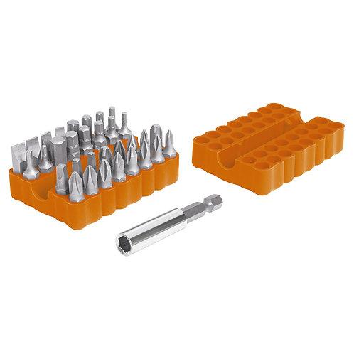 Truper BIT készlet, 33 részes+adapter