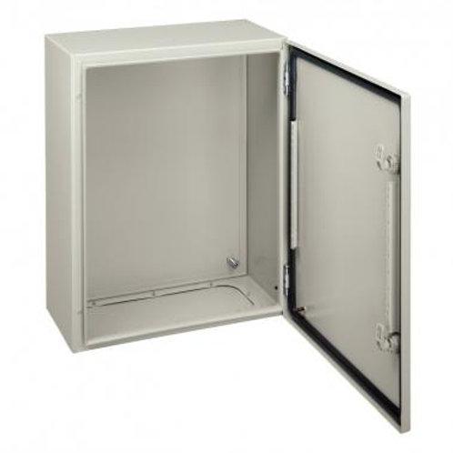 Elosztószekrény fém 400x300x150 teli ajtóval CRN