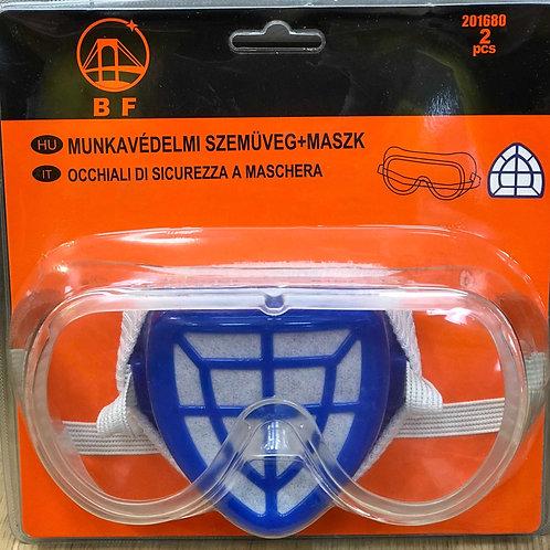 Munkavédelmi maszk + szemüveg