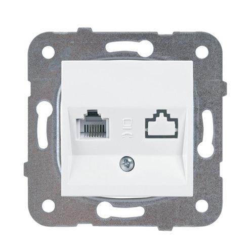 Panasonic RJ11 CAT3 fali aljzat, keret nélkül, fehér