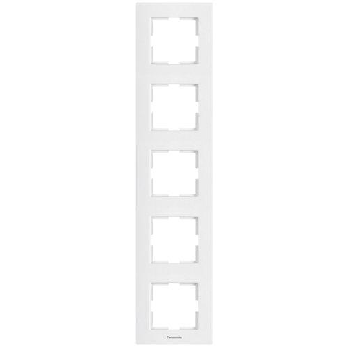 Panasonic Sorolókeret (5-ös) függőleges, fehér, Panasonic feliratos