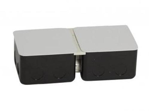 Pop-up padlódoboz felnyíló, süllyesztő fém 6 modul 2x3