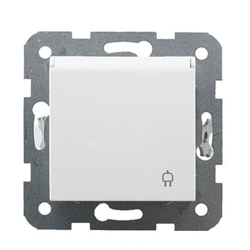 Panasonic Aljzat 2P+F, csapfedeles, gyermekvédelemmel, keret nélküli, fehér