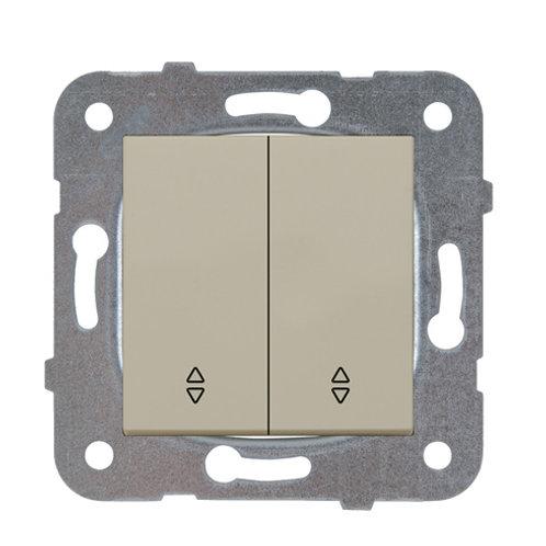 Panasonic Kapcsoló, kettős váltókapcsoló, keret nélkül, bézs