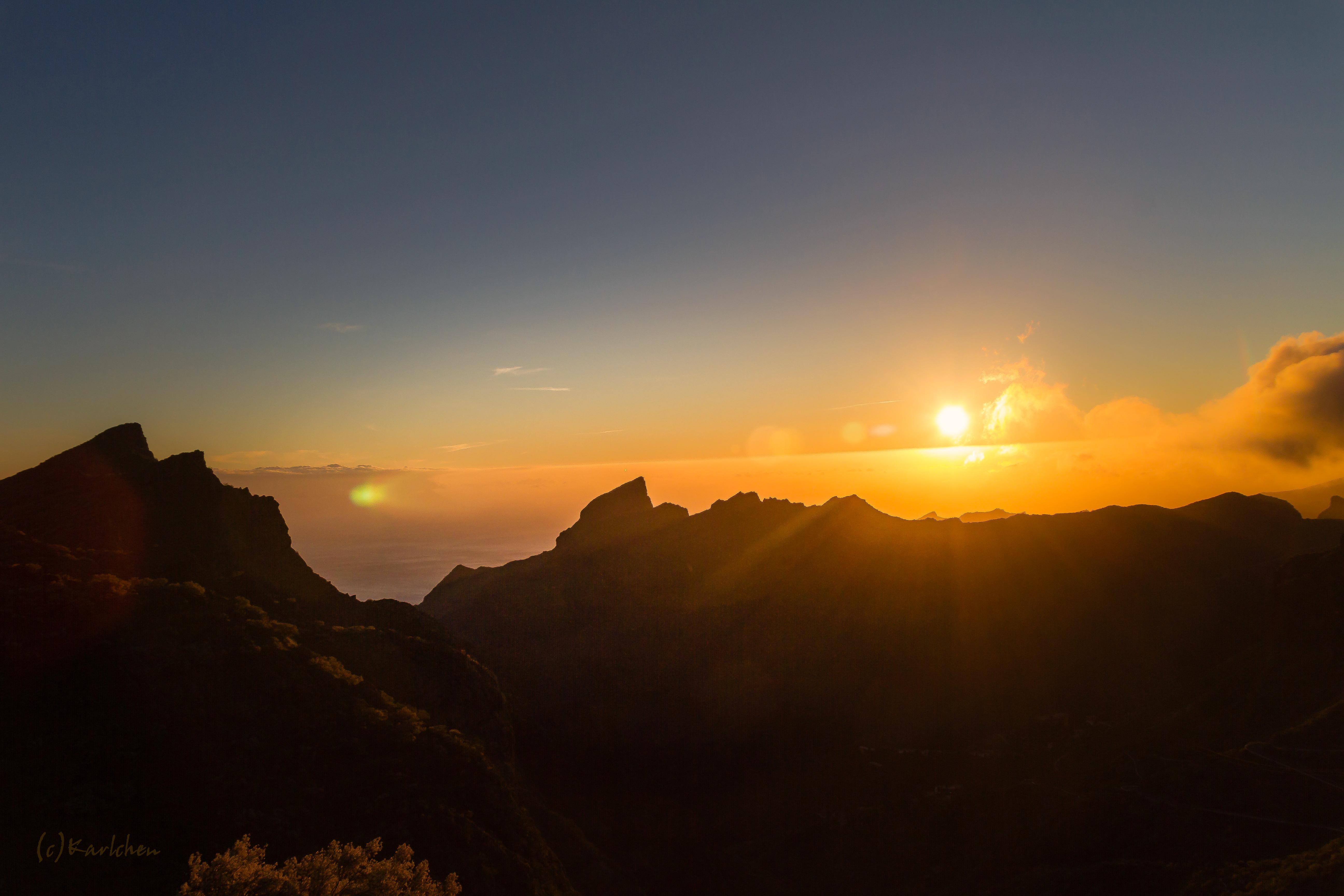 Sonnenuntergang über Masca