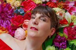 Bett aus Blumen