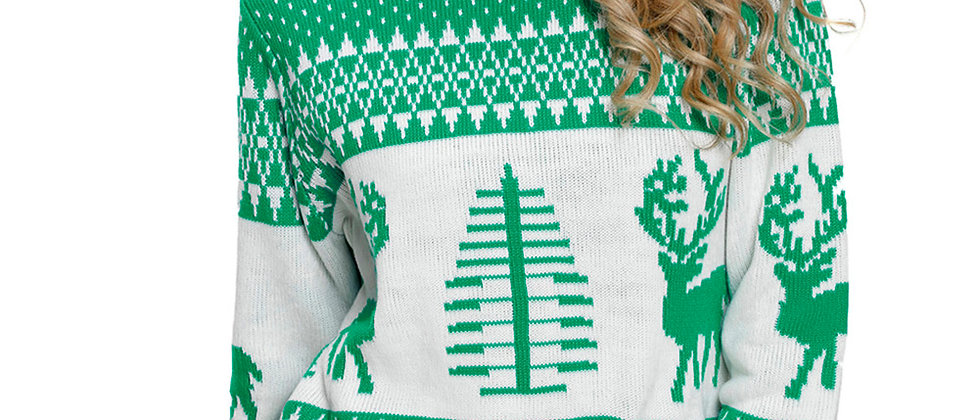 Reindeer Christmas Tree Sweater