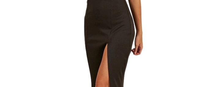 Off Shoulder Side Slit Evening Dress