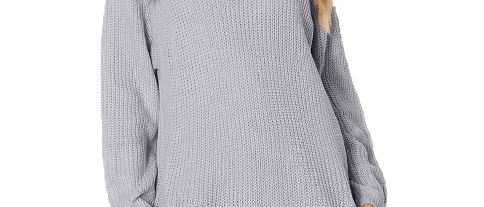 Heap Collar Mini Knit Dress
