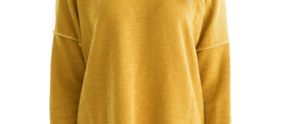 Yellow Two Tone French Terry Sweatshirt