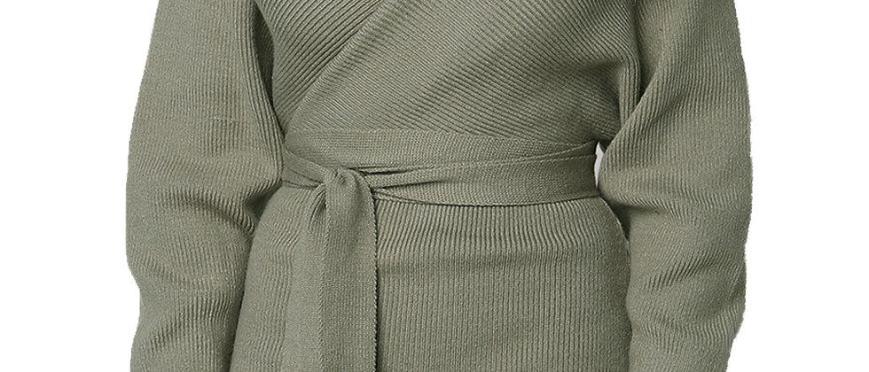Long Sleeve V Neck Sweater Dress