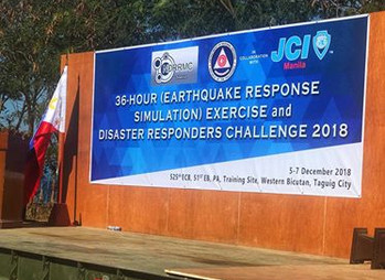 BangkaPro takes part in NDRRMC's 36 Hour Earthquake Response Simulation Exercise