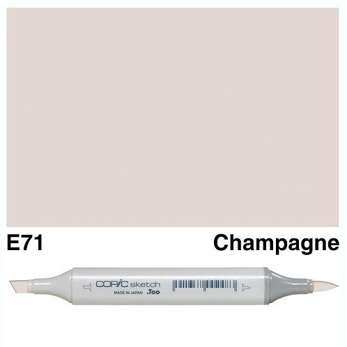 Copic Sketch Marker - E71 Champagne