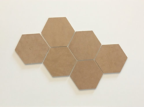 Hexagon MDF Coasters (Set of 6)
