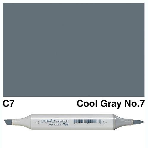 Copic Sketch Marker - C7 Cool Grey No.7