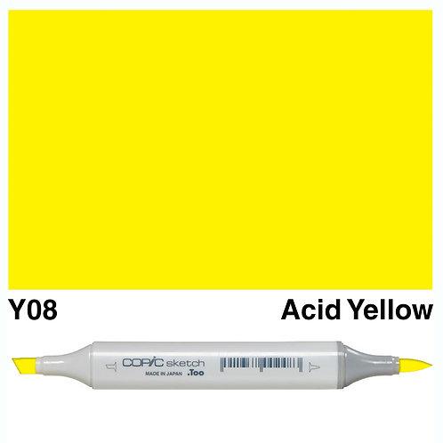 Copic Sketch Marker - Y08 Acid Yellow