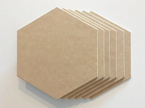 Hexagon MDF Placemats (Set of 6)