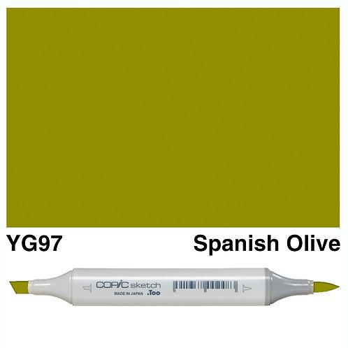 Copic Sketch Marker - YG97 Spanish Olive
