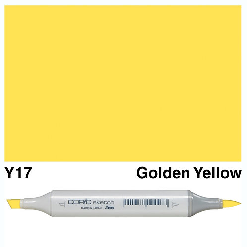 Copic Sketch Marker - Y17 Golden Yellow
