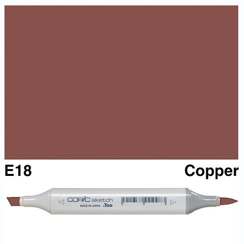 Copic Sketch Marker - E18 Copper