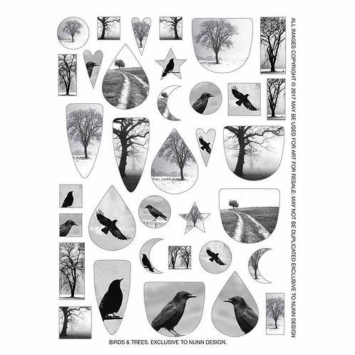 Transfer Sheet Birds & Trees