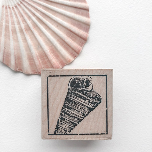 Spiral Shell Wooden Stamp