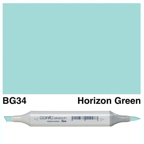 Copic Sketch Marker - BG34 Horizon Green