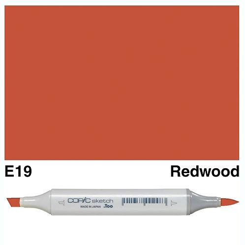 Copic Sketch Marker - E19 Redwood