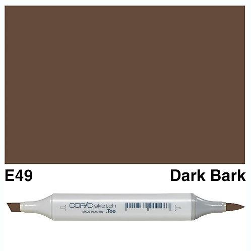 Copic Sketch Marker - E49 Dark Bark