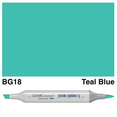 Copic Sketch Marker - BG18 Teal Blue