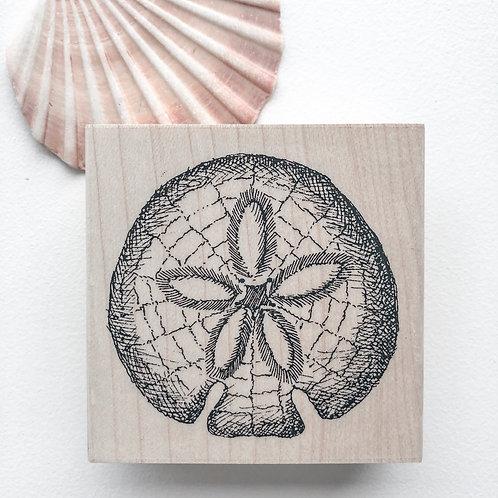 Large Sand Dollar Wooden Stamp